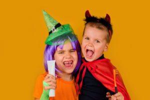 Kids teeth on Halloween